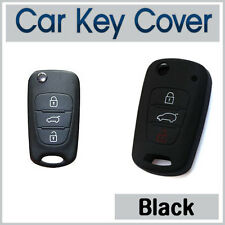 HYUNDAI i10 i20 i30 IX35 Elantra Accent CAR KEY COVER SILICONE CASE - BLACK