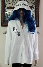 WOMENS VICTORIA'S SECRET PINK WHITE PUSSYCAT DOLLS DON'T CHA HOODIE  LARGE / XL