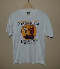 Mens Vintage VTG Screen Stars 50/50 Louisiana Beer and Crawfish T-Shirt LARGE