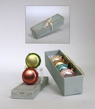 Katherine,s Collections Christmas Ornaments Box of 6 Macroons