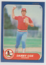 1986 Fleer Danny Cox St Louis Cardinals #32