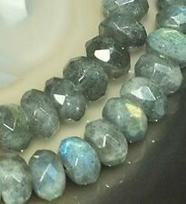 5x8mm Faceted Labradorite Rondelle Gemstone Beads 8""
