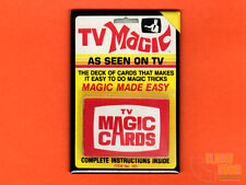 "TV Magic Cards 2x3"" fridge/locker magnet box art vintage Marshall Brodien"