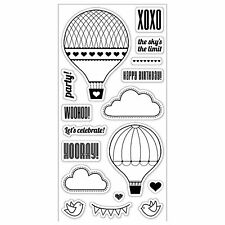 FISKARS Clear cling stamps UP IN THE AIR New for Card making & stamping