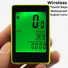 SPORTS WATERPROOF WIRELESS BICYCLE LCD COMPUTER ODOMETER