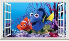 Disney Finding Dory Nemo Coral 3D Window Wall Decals Party Stickers Kids Decor
