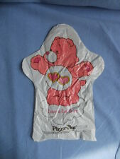 "PIZZA HUT Vintage CARE BEARS Pink ""Love-a-Lot-Bear"" Plasic Hand Puppet 1984"
