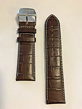 Original Tissot V8 Brown Leather 22mm Strap Band w/ Stitching for T361316