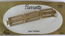 Vintage Hair Accessories - Hand Polished Silver Color Metal Barrette