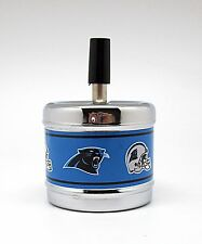 Push Down Spin Top Metal Ashtray - Carolina Panthers