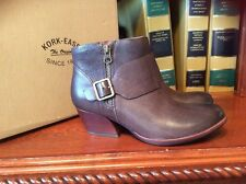 KORK-EASE Women's Size 9 M ISA Morosita Brown Leather Side Zip Ankle Boots