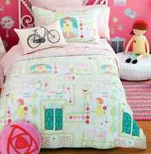 Shabby Secret Garden Single Bed Girls Pink Doona Duvet Quilt Cover Set Chic New