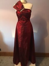 Size 12 Dress. Prom. Ball Gown. Evening. Cruise. Wine Red Dress Maxi.