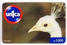 AMERIQUE  TELECARTE / PHONECARD .. VENEZUELA 5.000BS UNCA1 OISEAU BIRD PAON +N°