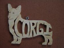 Adorable Corgi  Wood Toy Dog Christmas Ornament  Gift Tag