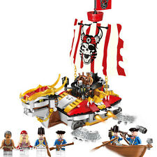 Building Bricks Blocks Pirates of Caribbean Armored ships Boat enlighten 1312