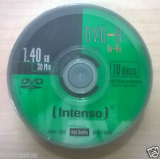 INTENSO DVD mini 4959 tarrina 10 unidades Mini DVD-R 30 minutos 1,4Gb 4x