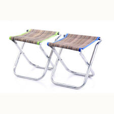 Portable Aluminum Folding Chair Stool Seat Outdoor Fishing Camping Picnic P G0B3