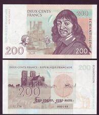 Billet de 200 FRANCS - RENE DESCARTES - ECHANTILLON - NEUF - 2015 - Rare 600 ex