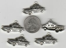 YOU GET 10 METAL CAR -  I LOVE NEW YORK TAXI CAB CHARMS  -   U.S. SELLER.  - W 2