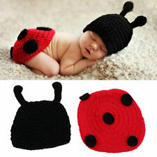 Newborn Baby Crochet Knit Photo Photography Prop Costume Hat Beanies Outfit LL