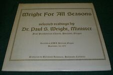 Wright For All Seasons~Dr. Paul S Wright~Private Gospel Spoken Word~FAST SHIP!