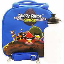 BLUE Angry Birds&Friends Insulated Lunch Box Bag with Water Bottle by Rovio-New
