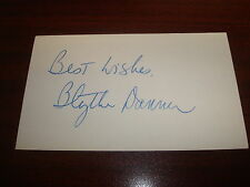 Blythe Danner  Meet the Parents Signed Best Wishes 3X5 Index Card Autograph M7