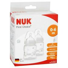 NUK First Choice+ 150ml Wide Neck Baby Bottle (Twin Pack) BPA FREE