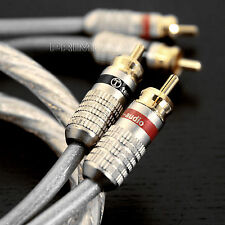 LT Golden Plated Audiophile Hi-end Twin Phone RCA to RCA Hi-Fi Cable 1 Meter E