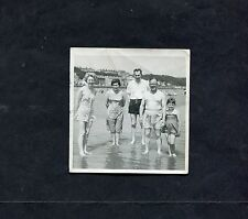 C1950's Original Photo of a Family Group in Bathing Costumes.