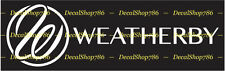 Weatherby Firearms - Hunting/Outdoor Sports - Vinyl Die-Cut Peel N' Stick Decal