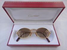 VINTAGE CARTIER OVAL ST HONORE 51MM GOLD FRANCE SUNGLASSES HARD PLATED