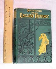 1883 PICTURES ENGLISH HISTORY Maps ANTIQUE BOOK Fine WAR Army KINGS Britain VTG