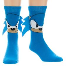 SEGA SONIC THE HEDGEHOG CREW SOCKS WITH QUILLS BIG FACE CARTOON TUBE GENESIS NWT