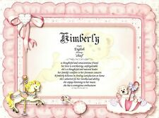 Baby Girl Personalized Name Meaning Print
