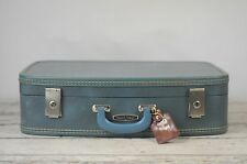 Vintage Suitcase Travel Smart Luggage Blue
