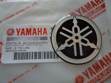 YAMAHA GENUINE 40MM TUNING FORK LOGO BLACK & SILVER DECAL EMBLEM STICKER x 1