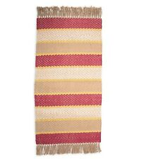 Jute Rug Handwoven Striped Design 5' X 8' in Red