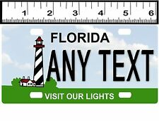 CUSTOM PERSONALIZED ALUMINUM BICYCLE MINI STATE LICENSE PLATE-FLORIDA LIGHTHOUSE
