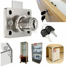 Mailbox Desk Drawer Cabinet Lock Dead Bolt Showcase Box Cupboards w/Two Keys