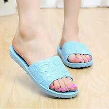 Women Antiskid Love Print Flat Bath Slippers Indoor & Outdoor Slip On Sandals