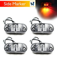 4X Side Marker Light Red Amber 2 LED Boat Trailer Truck Bus Multi-volt 12V 24V