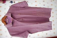 VERSACE COLLECTION LILAC COTTON POLO SHIRT SIZE L