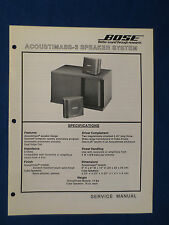 BOSE ACOUSTIMASS 3 SPEAKERS SERVICE MANUAL ORIGINAL GOOD CONDITION