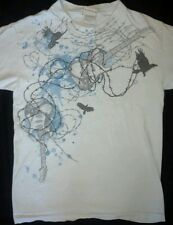 Fifth Sun Guitar Raven Barbed Wire Graphic Tee Shirt Punk Rock S