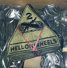 200 2nd Armored Division subdued patches US Army surplus full box Hell On Wheels