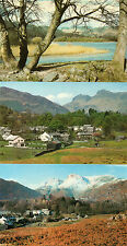 Cumbria ,Lake district x3 Elterwater and Langdale pikes unposted 1960's/70's