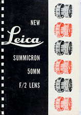 Original Leitz NY Sales Brochure for Leica Summicron 2/50mm Lens - May 1953