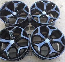 "SET OF FOUR 4 20"" x9.5"" 10.5"" for BMW X5 X6 35I 48I 50I WHEELS RIMS NEW Y BLACK"